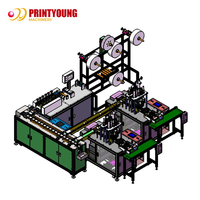 PRY-120 Face Mask Making Machine PLC Control System Disposable Mask Making Machine