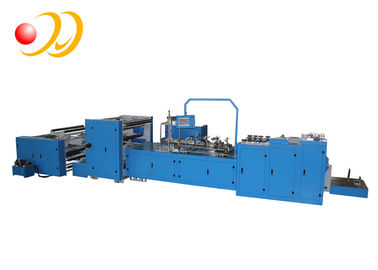 PLC Touch Screen Food Paper Bag Machine High Speed With Flat Bottom