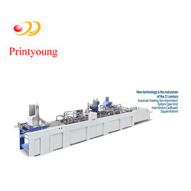 Paper Bag Bottom Gluing Machine With Automatic Feeding Machine
