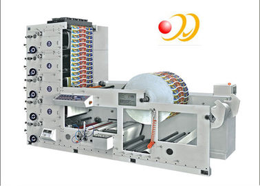 Paper Cup / Label 4 Color Flexographic Printing Machine With Ceramic Anilox Roller